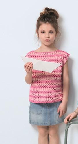 Haakpatroon meisjes shirt met korte ....