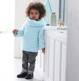 Breipatroon trui met col, gemaakt van ....