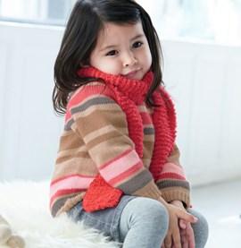Breipatroon gestreepte trui voor baby s ....