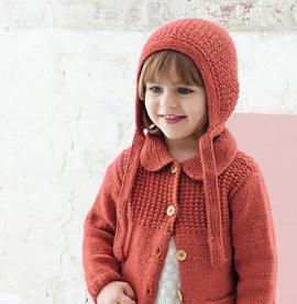 Breipatroon meisjesmuts, gemaakt van ....
