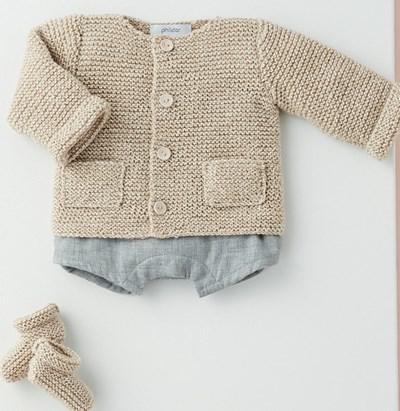 Breipatroon Vest en slofjes voor baby
