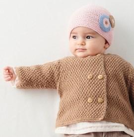 Breipatroon babyvestje in ribbel- en ....