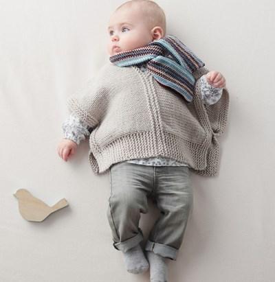 Breipatroon Sjaal voor baby