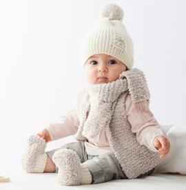 Breipatroon babysjaal, gemaakt van ....
