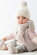 Breipatroon babymuts, gemaakt van ....