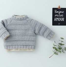 Breipatroon babytrui, gemaakt van ....