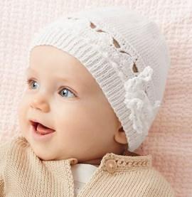Brei- haakpatroon babymutsje, gemaakt ....