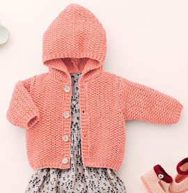 Baby vest met capuchon