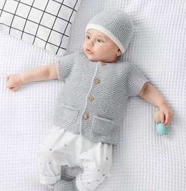 Breipatroon babyvestje met korte ....