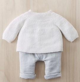 Breipatroon babytruitje, gemaakt van ....
