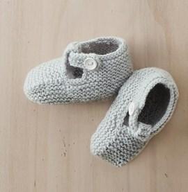 Breipatroon babyslofjes, gemaakt van ....