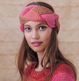 Breipatroon gevlochten hoofdband, ....