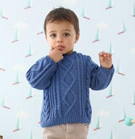 Breipatroon kabeltrui voor kindjes, ....