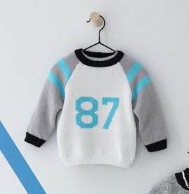 Breipatroon trui met cijfers, gemaakt ....