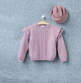 Breipatroon trui Nolwen, meisjes trui ....