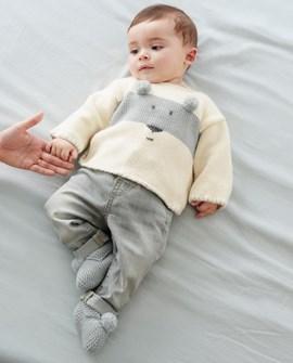 Baby trui met beer