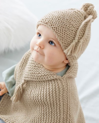 Breipatroon Baby poncho