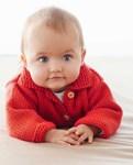 Breipatroon Baby jasje van andere kant