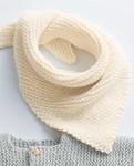 Breipatroon Baby sjaal van andere kant