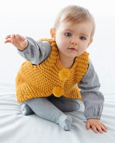 Breipatroon Baby gilet