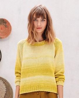 Breipatroon korte trui in tricotsteek ....
