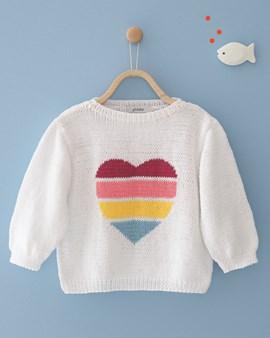 Breipatroon meisjes trui met ....