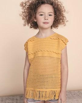 Haakpatroon zomers hemdje voor meisjes ....