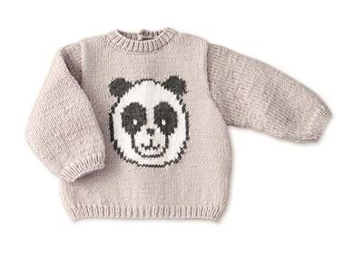 Breipatroon Trui met panda