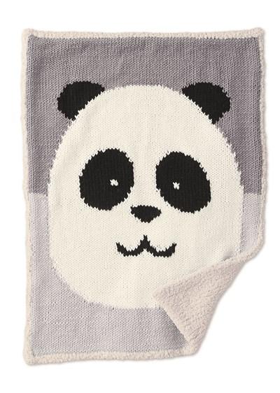 Breipatroon Deken met pandabeer