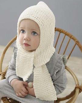Breipatroon sjaalmuts Maryline. De ....