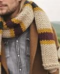 Breipatroon Heren sjaal van andere kant