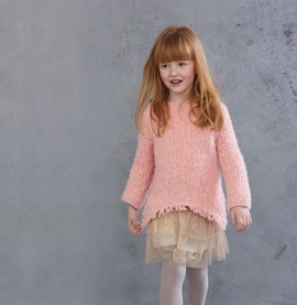 Breipatroon meisjes trui met lange ....