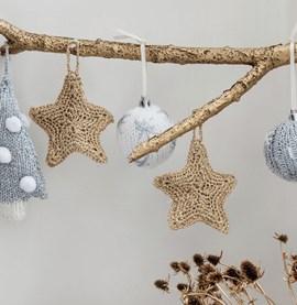 Gehaakte ster als decoratie.