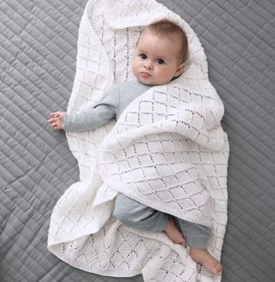 Baby Deken Breien.Breipatroon Baby Deken