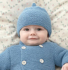 Breipatroon babymutsje met guitig ....