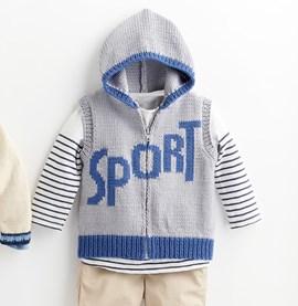 Breipatroon sportief vest met ....