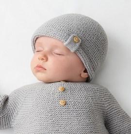 Breipatroon babymuts gemaakt van ....