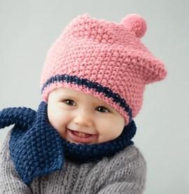 Breipatroon baby baret, gemaakt van ....