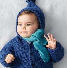 Breipatroon babysjaaltje, gemaakt van ....