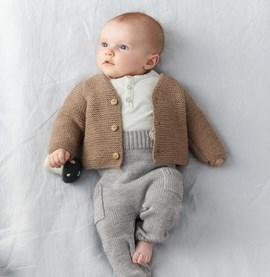 Breipatroon babyvest, gemaakt van ....