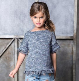 Breipatroon meisjes trui met korte ....
