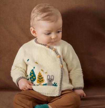 Breipatroon Baby trui met konijntje