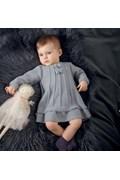 Breipatroon babyjurkje met strikjes, ....