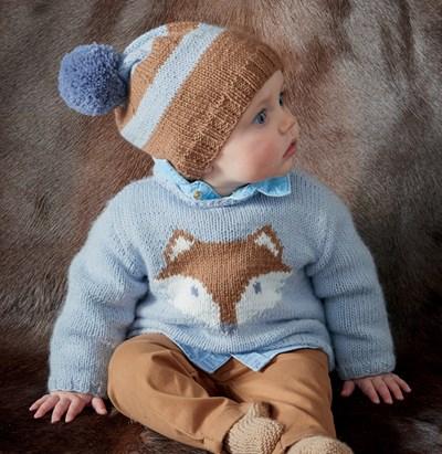 Breipatroon Baby trui met vos