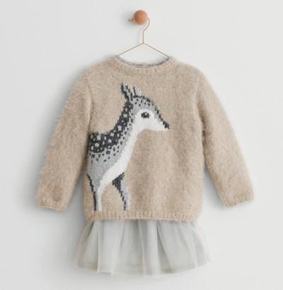 Breipatroon Meisjestrui met hert