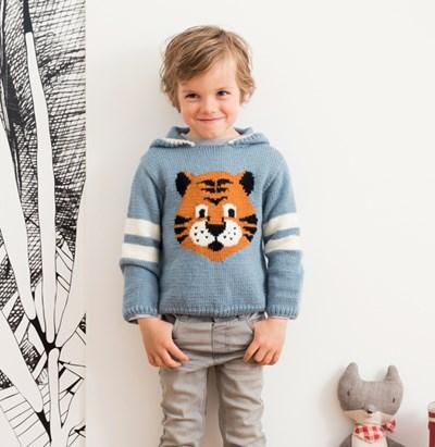 Breipatroon Jongenstrui met tijger