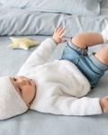 Breipatroon Baby vest van andere kant