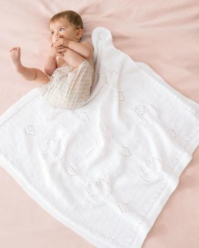 Breipatroon Deken voor baby