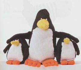 Breipatroon pinguin knuffel klein ....