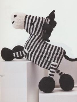 Breipatroon vrolijke zebra met ....